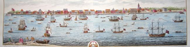 Contemporary Print Charleston Ships