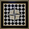 square painted floor cloth
